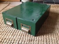 Vintage filing cabinet (double draw)