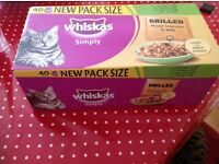 Large box of Whiskas cat food.