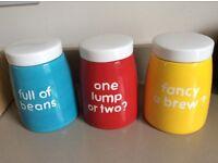 Next kitchen storage jars - tea, coffee, sugar containers