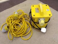 Portable Site Transformer & Extension Cable £65