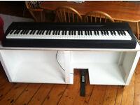 Bespoke Studio Keyboard Stand (wooden, white, on castors)