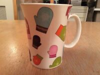 Large Mug decorated with Mittens