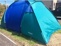 4 man tent, used twice excellent condition 2 inner sleeping areas for two each£50.00 Side