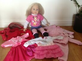 Molly Doll with outfits