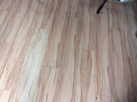 Laminate flooring used in garage - wood effect 3m x 5.75msq