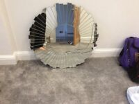 Large sunburst mirror. Good as new.