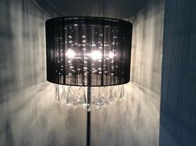 large crystal floor lamps
