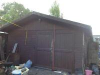 Large timber workshop/garage 8.5 x 5 meters