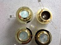 Set 4 gold colour downlighters
