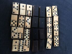28 Piece Domino Set in Ebony and Bone