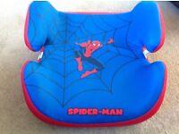 Spider-Man boys padded car seat