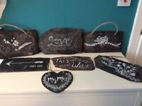 Wedding decorations - real slate signs for vintage Look