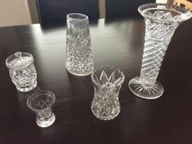 Antique Crystal glass vases