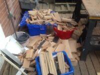 Chopped oak ton bag full