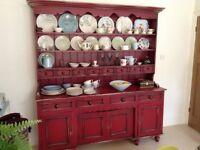 Kitchen dresser with cupboards