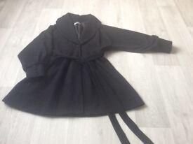 Designer ladies black winter coat size 14