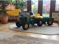 ROLLY FUTURA TRACTOR WITH TRAILER AND FRONT LOADER