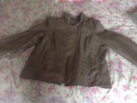 M&s indigo leather look jacket size 16