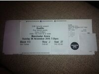 3x Seated Bastille Tickets, Manchester