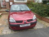 Red Renault Cli 1.2 5dr