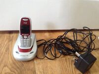 Cordless telephone - with one base and handset - BT Calypso