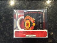 Boxed autograph Manchester United mug