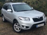 1 Owner Hyundai Santa Fe Premium 5 Seat Manual with Leather, Climate, Det Tow Bar and 12mth Serv/MOT