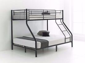BRAND NEW METAL TRIPLE SLEEPER BUNK BED £129