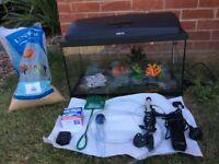 Tropical Fish Tank starter kit.