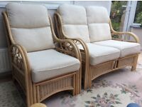 3 piece conservatory suit in excellent condition. 2 armchairs and a two seater sofa.