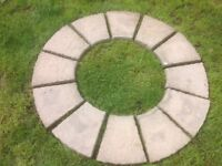 Circular Paving / Patio Slabs Kit (Clean with no cement used)