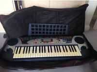 Yamaha PSR-160 keyboard with carry bag, lead and stand