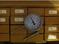 For Sale - 16no Stainless Steel Bi-metallic Temperature Gauges c/w Pockets