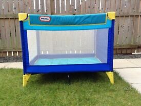 Little Tikes Travel Cot. Immaculate Condition. Hardly used.
