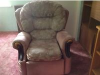 Three Seater Sofa Suite with recliner