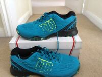 Wilson mens tennis trainers size 10 1/2 . Like new only worn once