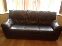 Italian leather sofa 3 and 2 seaters