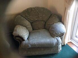 Free. Green arm chair