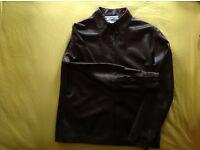Yes Saint Laurent rive gauche black leather jacket size 38