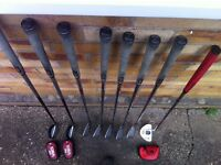 "Golf clubs extended 3/4"" for 6' + golfer"