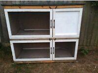 Rabbit hutch - two storey
