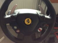 Xbox 360 Ferrari 458 steering wheel,pedals and steering wheel