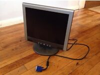"""12"""" flat screen PC monitor. Good condition"""