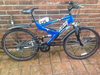 Raleigh Vulture 18 Gear, Full Suspension, Adult Mountain Bike