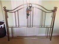 King size brass style headboard, excellent condition, great quality