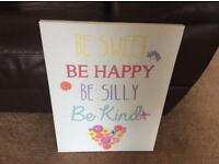 NEXT be happy wall canvas
