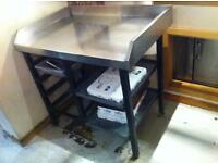 Commercial Kitchen Work Top with Shelves