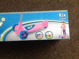 Brand new Kixi 3 wheel scooter