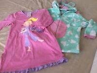 Girls Cow Onesie All in One and Avon Nightie Nightdress Age 5 - 6