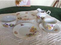 12piece tea service including sugar bowl and cream jug
